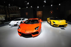Italy Lamborghini pavilion Stock Photo