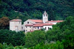 italy lamosakloster pietro san Royaltyfria Bilder