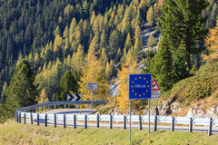 Italy land border Royalty Free Stock Photography