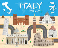 Italy Landmark Global Travel And Journey Infographic Vector  Royalty Free Stock Image