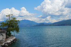 Italy landscape laggo maggiore lake panorama mountains Stock Photography