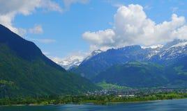Italy landscape laggo maggiore lake panorama mountains Stock Image