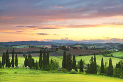 Italy. Landscapes of Tuscany  at dawn Stock Photography
