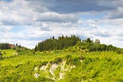 italy Landskap av Tuscany arkivfoton