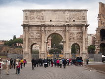 Italy,Lazio,Rome. Italy,Rome, the Costantino arch in marble Royalty Free Stock Photography
