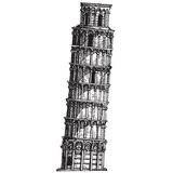 Italy. leaning tower of Pisa on a white background Stock Image