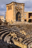 Italy Lecce Roman amphitheater Stock Photography