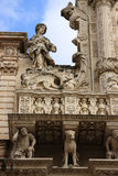 Italy Lecce Santa Croce Church facade Stock Photo
