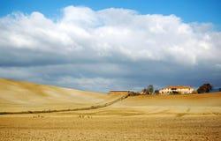 italy liggande lantliga tuscany arkivfoto