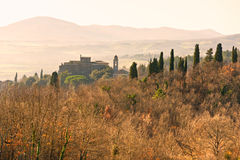 italy liggande tuscany Arkivfoto