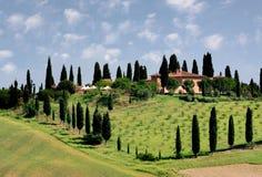 italy liggande tuscany Arkivbild