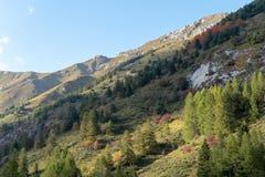 Italy, Ligurian Alps in autumn royalty free stock image