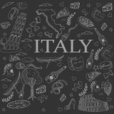 Italy line art design vector illustration Royalty Free Stock Photos