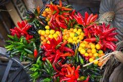 italy Ljusa grönsaker på marknaden Arkivbild
