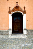 Italy  lombardy     in  the azzate old   church  closed brick Royalty Free Stock Photos