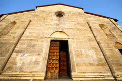 Italy  lombardy     in  the brebbia old   church    brick   ste Royalty Free Stock Photography