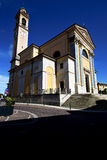 Italy  lombardy     in  the carnago   old   church  closed bric Stock Images
