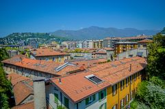 Italy, Lombardy, Como lake and city landscape view Stock Photo