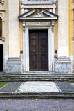 Italy  lombardy     in  the   lombardo old   church  step    wa Royalty Free Stock Photography