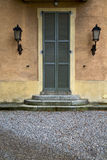 Italy  lombardy     in  the milano old   church  door street la Stock Photography
