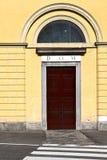 Italy  lombardy     in  the milano old   church  door zebra cro Royalty Free Stock Photography