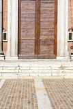 Italy  lombardy     in  the somma  church  closed brick tower Royalty Free Stock Photos