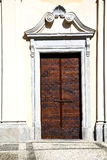 Italy  lombardy     in  the somma lombardo old   church  b step Royalty Free Stock Photography