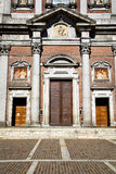 Italy  lombardy     in  the somma lombardo old   church  closed Royalty Free Stock Images