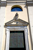 Italy  lombardy     in  the sumirago  old   church  closed bric Royalty Free Stock Image