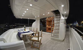 Italy, luxury yacht Rizzardi Technema 65' Royalty Free Stock Photo