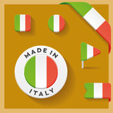 Italy Made Symbol Collection Royalty Free Stock Photos