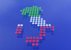 Italy made up of dots Royalty Free Stock Photography