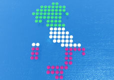 Italy made up of dots Royalty Free Stock Images