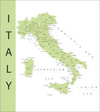Italy and major town. Stock Image