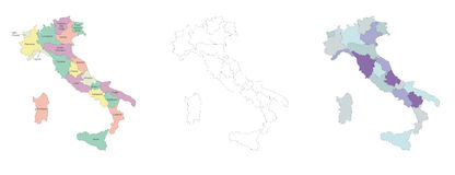 Italy map Stock Photography