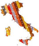 Italy map. In abstract design Royalty Free Stock Photos