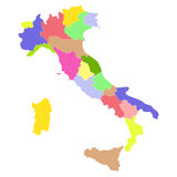 Italy map. Isolated on a white background. Vector illustration Stock Image