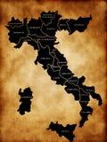 Italy map Royalty Free Stock Photos