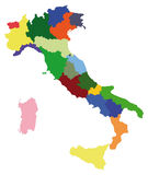 Italy map. Map of italy on white background Royalty Free Stock Image