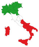 Italy map Royalty Free Stock Photography