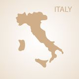 Italy map brown Stock Photos
