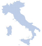 Italy map dots Stock Photo