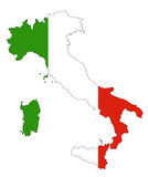 Italy map and flag Stock Photo