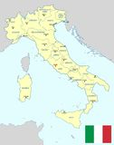 Italy map - cdr format Stock Photos