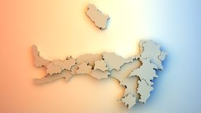 Italy map Royalty Free Stock Images