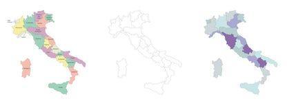 italy mapa Fotografia Stock