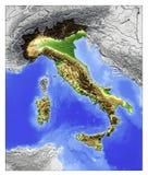 Italy, mapa de relevo Imagens de Stock Royalty Free