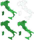 Italy maps Stock Photography