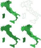Italy maps Stock Photography