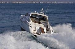 Italy, mar de Tirrenian, iate luxuoso Rizzardi 45 ' Fotos de Stock Royalty Free
